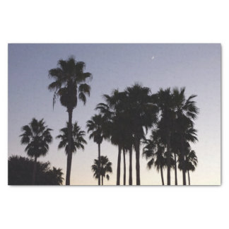 Dusk with Palm Trees Tropical Scene Tissue Paper