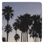 Dusk with Palm Trees Tropical Scene Trivet
