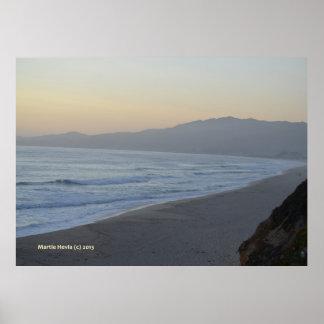 Dusky Beach Poster