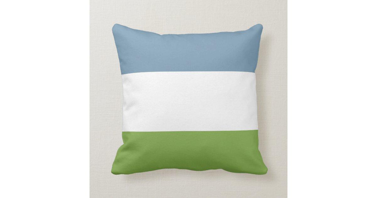 Dusky Blue and Spring Green Throw Pillow Zazzle.com