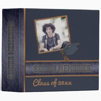 Dusky Blue Class Graduation Senior Memories Binder
