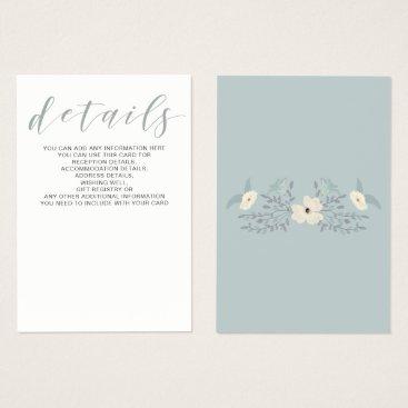 Dusky Blue Floral Wedding cards