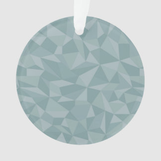 Dusky Blue Mosaic Abstract Pattern Ornament