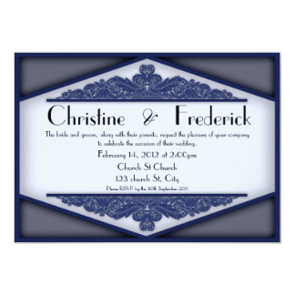 "Dusky Blue Vintage, 5""x7"" invitation. 5x7 Paper Invitation Card"