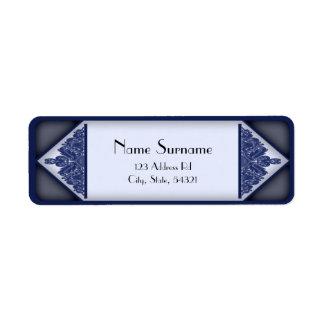 Dusky Blue Vintage, return address labels