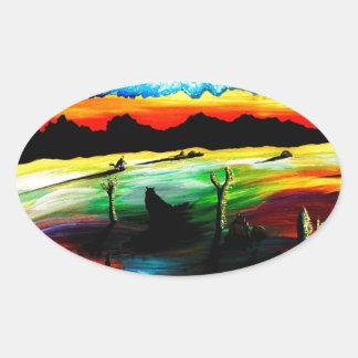 Dusky Desert Shadows Sticker