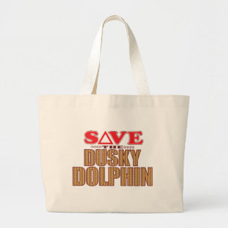 Dusky Dolphin Save Large Tote Bag