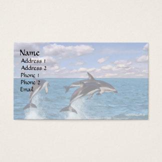 Dusky Dolphins at Play Business Card