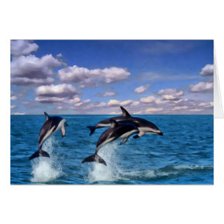 Dusky Dolphins at Play Greeting Card