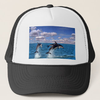 Dusky Dolphins At Play Trucker Hat