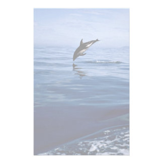 Dusky dolphins, side view, nose dive stationery paper