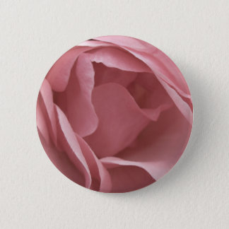 DUSKY PALE PINK ROSE Badge Pinback Button