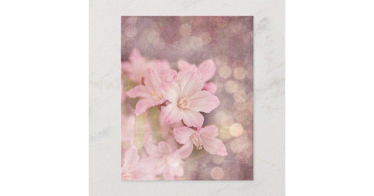 Dusky Pink Floral Scrapbook Paper Zazzle Com