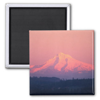 Dusky Pink Mountain 2 Inch Square Magnet