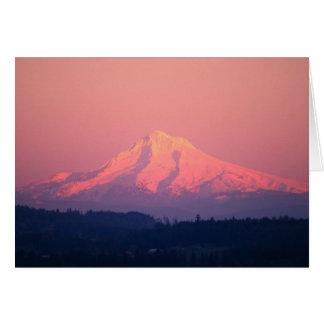 Dusky Pink Mountain Card