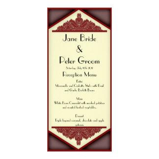 Dusky Pink Vintage, menu/program rack card