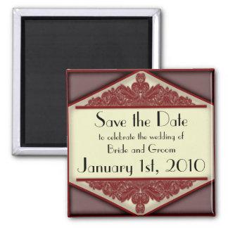Dusky Pink Vintage, save the date magnet