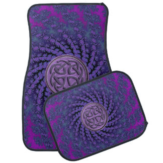 Dusky Purple Celtic Fractal Swirl Car Mat