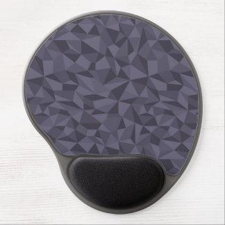 Dusky Purple Mosaic Abstract Geometric Pattern Gel Mouse Pad