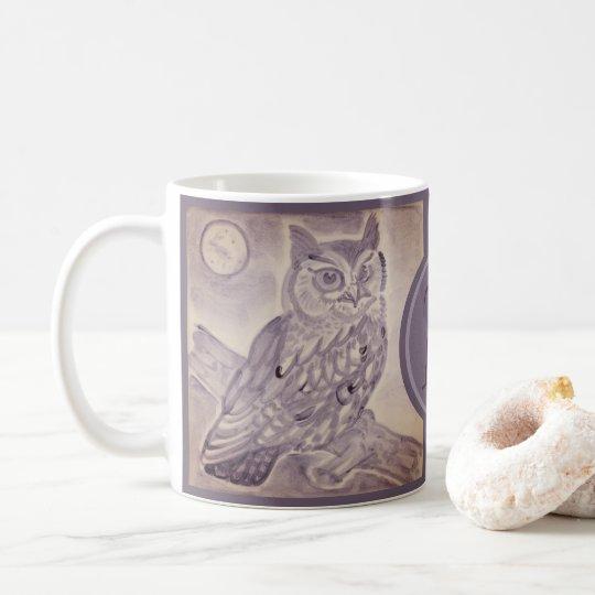 Coffee Art Painting Moon
