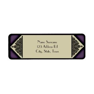 Dusky Purple Vintage, return address label