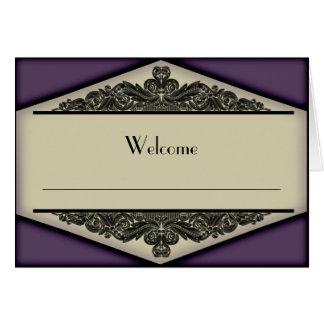 Dusky Purple Vintage, table setting note card