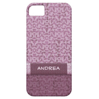 Dusky Rose Shabby Elegance Pink Damask iPhone SE/5/5s Case