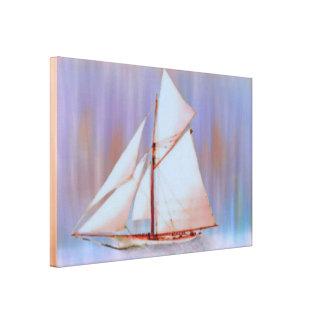 Dusky Sails Canvas Print