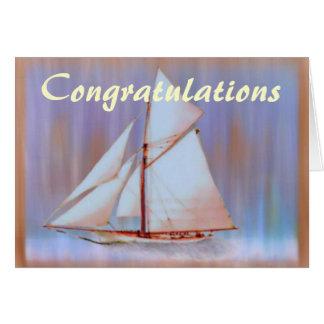 Dusky Sails congratulations card