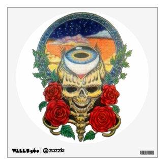 dusky skull wall sticker
