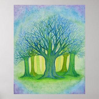 Dusky Trees Poster