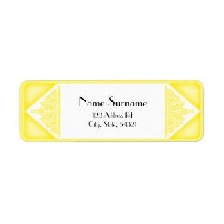 Dusky Yellow Vintage, return address labels