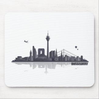 Düsseldorf City horizonte Alfombrilla De Ratones