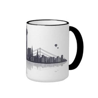 Düsseldorf City horizonte de taza, Mug, Kaffeepott