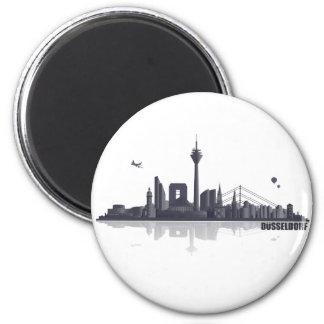 Düsseldorf City horizonte Imán Redondo 5 Cm