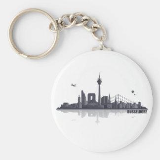 Düsseldorf City horizonte Llavero Redondo Tipo Pin