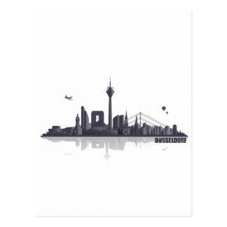 Düsseldorf City horizonte Postales