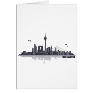 Düsseldorf City horizonte Tarjeta De Felicitación