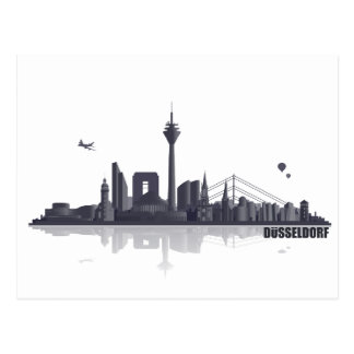 Düsseldorf City horizonte Tarjetas Postales