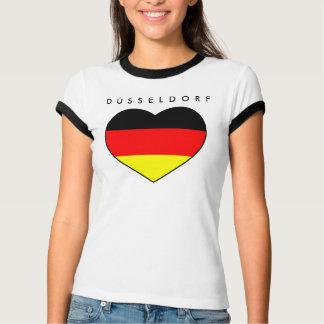 Düsseldorf corazón Shirt a buen precio Alemania WM Playera
