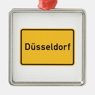 Dusseldorf, Germany Road Sign Metal Ornament