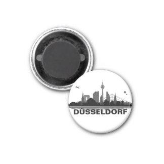 Düsseldorf horizonte nevera imán