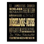 Düsseldorf-Neuss del arte de la tipografía de Alem Postales