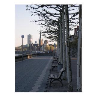 Düsseldorf paseo de rin tarjetas postales