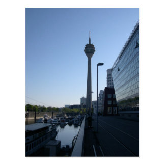 Düsseldorf torre de rin tarjeta postal