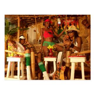 Dusstilldaan caribbean reggea bar post card