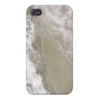 Dust and clouds hovered over the Taklimakan Des iPhone 4 Case