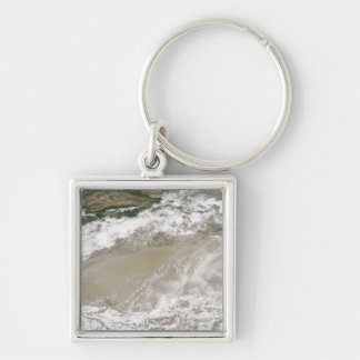 Dust and clouds hovered over the Taklimakan Des Keychain