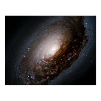 Dust Band Around the Black Eye Galaxy Nucleus Postcard