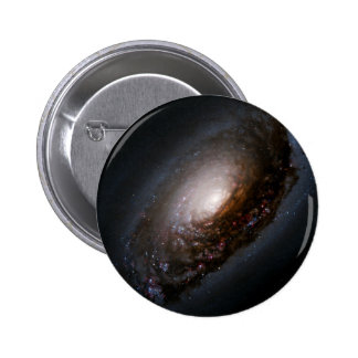 Dust Band Around the Nucleus of the Black Eye Gala Pinback Button